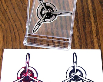Airplane Propeller Rubber Stamp 038
