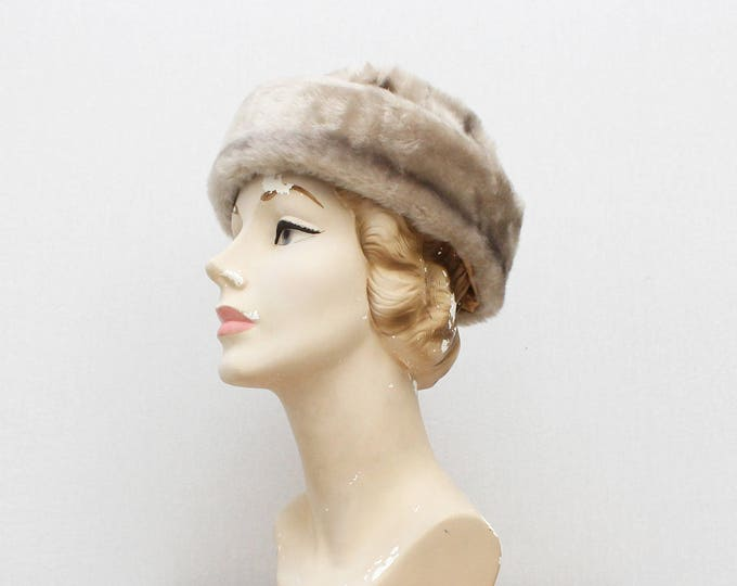 Vintage 1960s Platinum Fur Hat - Original Tags