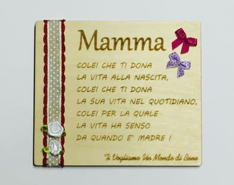 Mother's Day gift plaque birthday