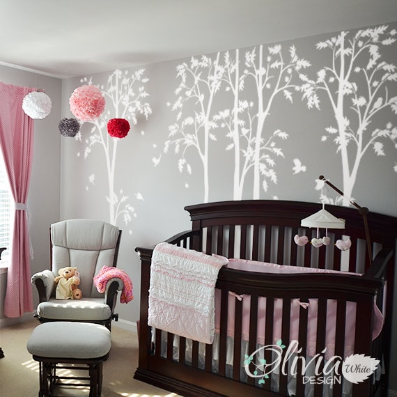 Exceptional White Tree Decal Large Tree Wall Decal Wall Art Tattoo Wall