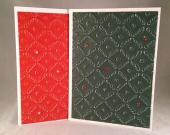 Set of 5 Christmas Circles CLASSIC Christmas Cards