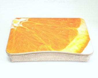 Breakfast Tray / Pillow Tray / Wooden Laptop Bed Tray / Ipad Tray / Serving Tray / Laptop Stand Orange