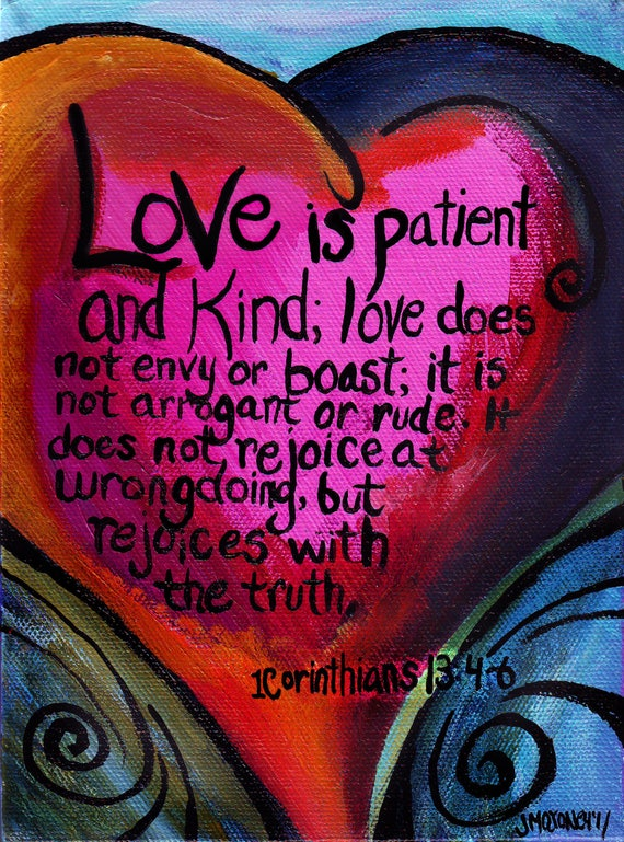 Love Is Patient and kind 8x10 Art Print
