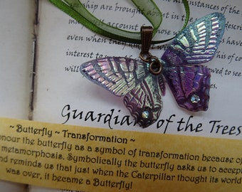 Shimmering Butterfly Necklace~ Iridescent
