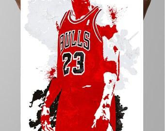 Fan art poster, Michael Jordan Chicago Bulls  Poster, Sports art poster, Kids Decor, Sports Posters