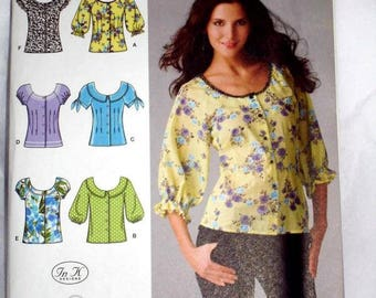 SIMPLICITY 2936 -EASY  Blouse pattern Sizes 8-16
