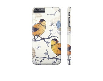BIRD iPhone 8 Case, iPhone 7 Case, Pretty Phone Case, iPhone 6 Cover, iPhone Case for 7 Plus, Protective iPhone Cases, Samsung Galaxy Cases.