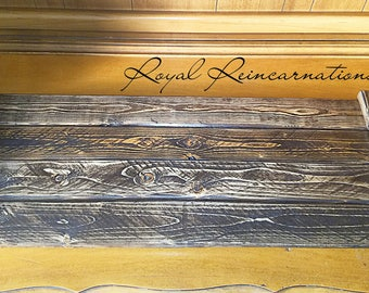 Handmade Stained Wood Decorative Serving Trays rustic farmhouse