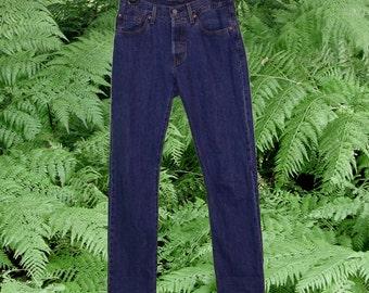 "Levi's Dark Wash 501 Classic Jeans 27"" Waist"