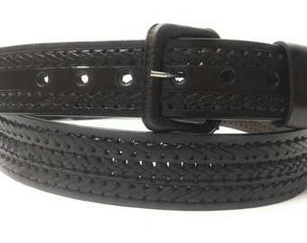 Mens leather belt. Western belt.