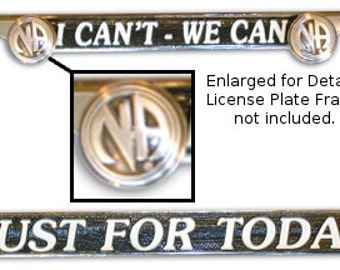 Narcotics Anonymous License Plate Bolts