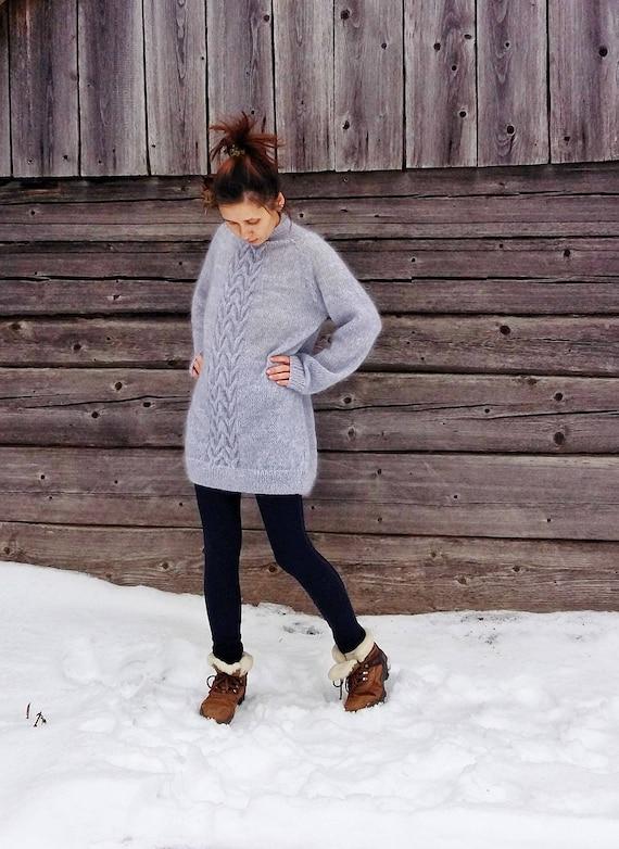dress sweater cable sweater knit chanky knit sweater dress sweater warm sweater cable sweater grey chunky dress sweter grey knit qx1OPfI