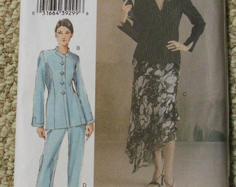 Vogue V8047 Jacket Skirt Pants Size B 8-10-12