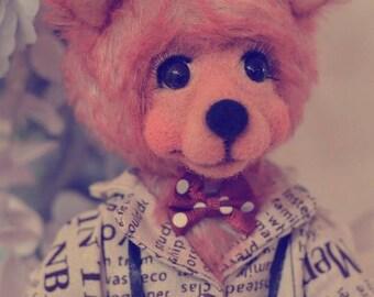 Musician teddy bear Amazing bear Classic teddy bears Traditional teddy bears Artist Classic teddy bears Artist bear Handmade collectible