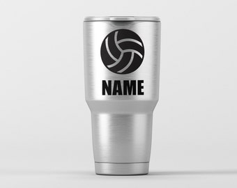 Volleyball (Personalization Available) / Yeti Decal / Vinyl Decal / Yeti Tumbler Decal / Yeti Cup Decal / RTIC / *Tumbler Available *