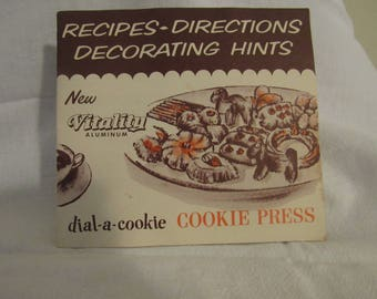 Mirror Cookie Press instruction booklet