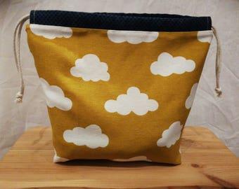 DrawString bag mustard clouds