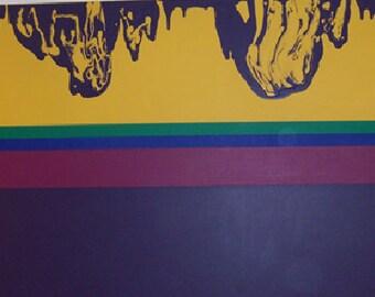 "Abstract Painting - ""Grandma Purple"""
