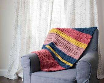 Crocheted baby blanket, stroller blanket, lap blanket, toddler blanket