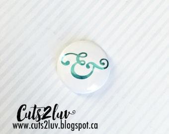 """Badge 1 """"& metallic turquoise"""