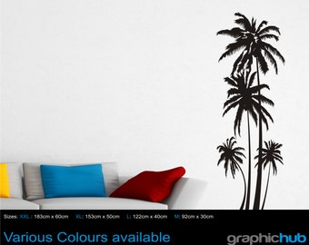 Palm Trees wall art sticker decal Upto 6 ft tall