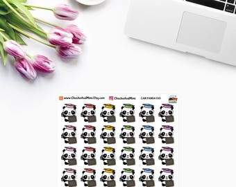 Amanda The Panda ~ BACK To School ~ Planner Stickers CAM PANDA 010