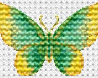 Butterfly Cross Stitch Kit, The Dew Butterfly, Embroidery Kit, Art Cross Stitch, Butterfly Series, Counted Cross Stitch