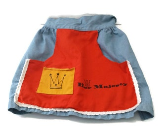Vintage Half Apron Blue Jean Her Majesty