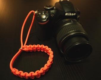 Paracord Camera Wrist Strap - Orange