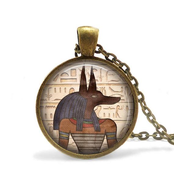 God anubis necklace god anubis pendant egyptian jewellery aloadofball Images