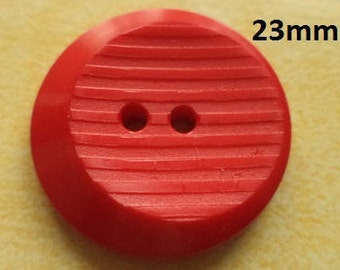 8 Red Knobs 23 mm (129) button jacket buttons