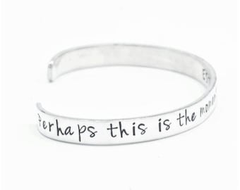 Perhaps this is the Moment Esther 4:14 Sterling Silver Hand-Stamped Bible Verse Cuff Bracelet