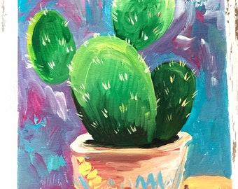 Cactus in acrylic