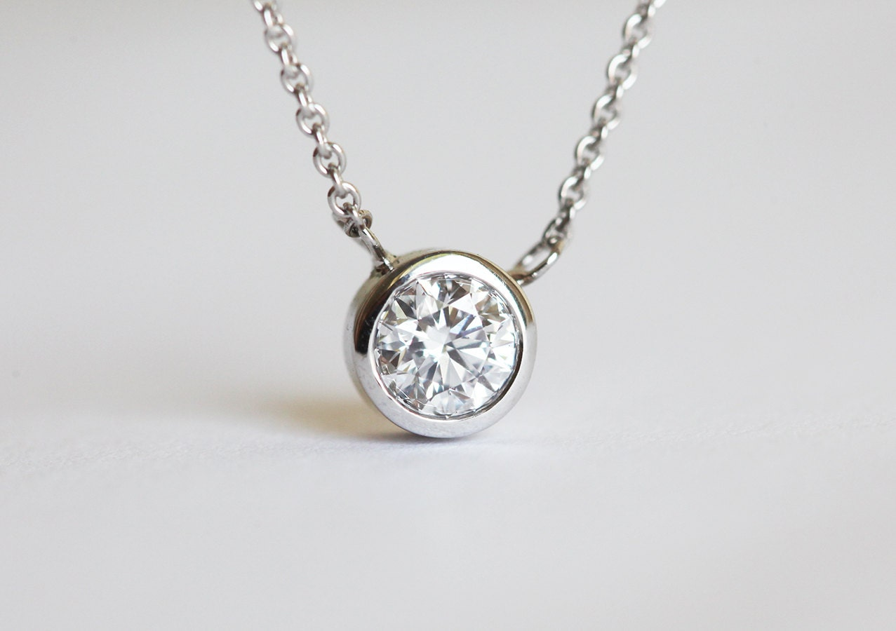 bezel tw in yellow diamond necklace gold pendant