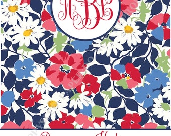 Vera Bradley binder cover and insert, personalized binder cover, with monogram and name, Vera Bradley binder cover - DIGITAL FILE ONLY