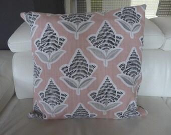 Cushion cover pink blush Makato Slub
