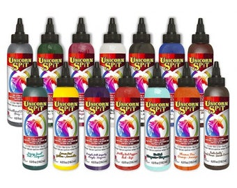 UNICORN SPiT Gel Stain and Glaze all-in-one = 14 Colors Available = 4oz size