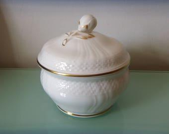 HEINRICH VILLEROY & BOCH Sugar Bowl Louisenburg Gold Bone China