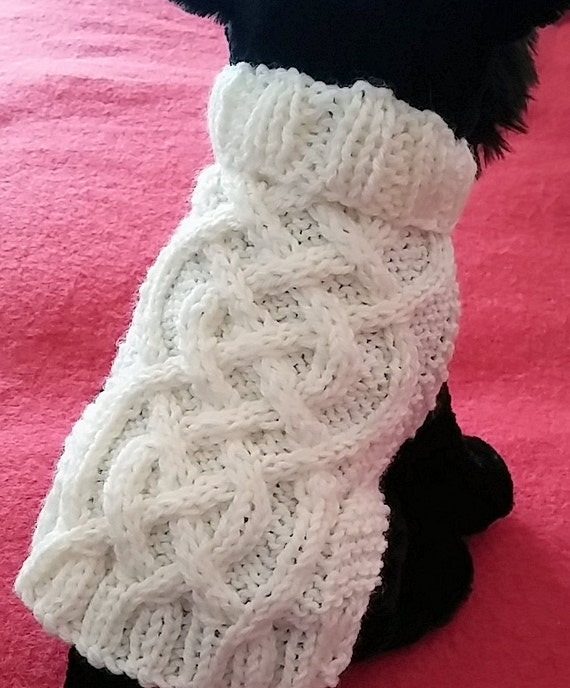 Knit Dog Sweater knitting pattern Celtic Braid design