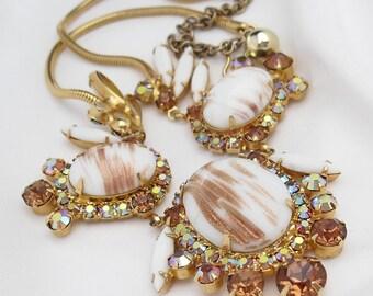 Vintage Juliana Necklace, White Copper Fluss 1960s Choker, Juliana Jewelry Book Piece