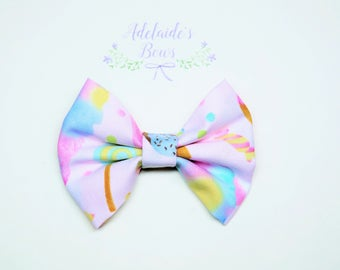 Pink Candy Cupcake Hair Bow