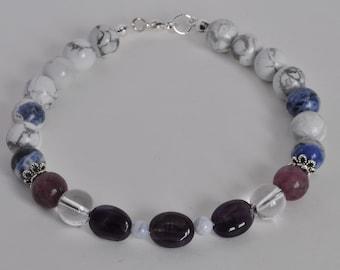 Anxiety Bracelet, Stress Bracelet, Healing Bracelet, Real Gemstone Bracelet, Amethyst Bracelet