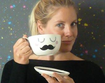 Tash Jumbo Tea Cup & Saucer