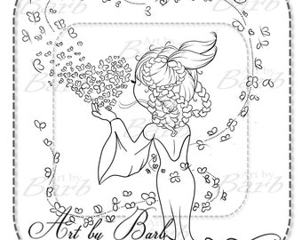 Fairy Breathe Line art to colour