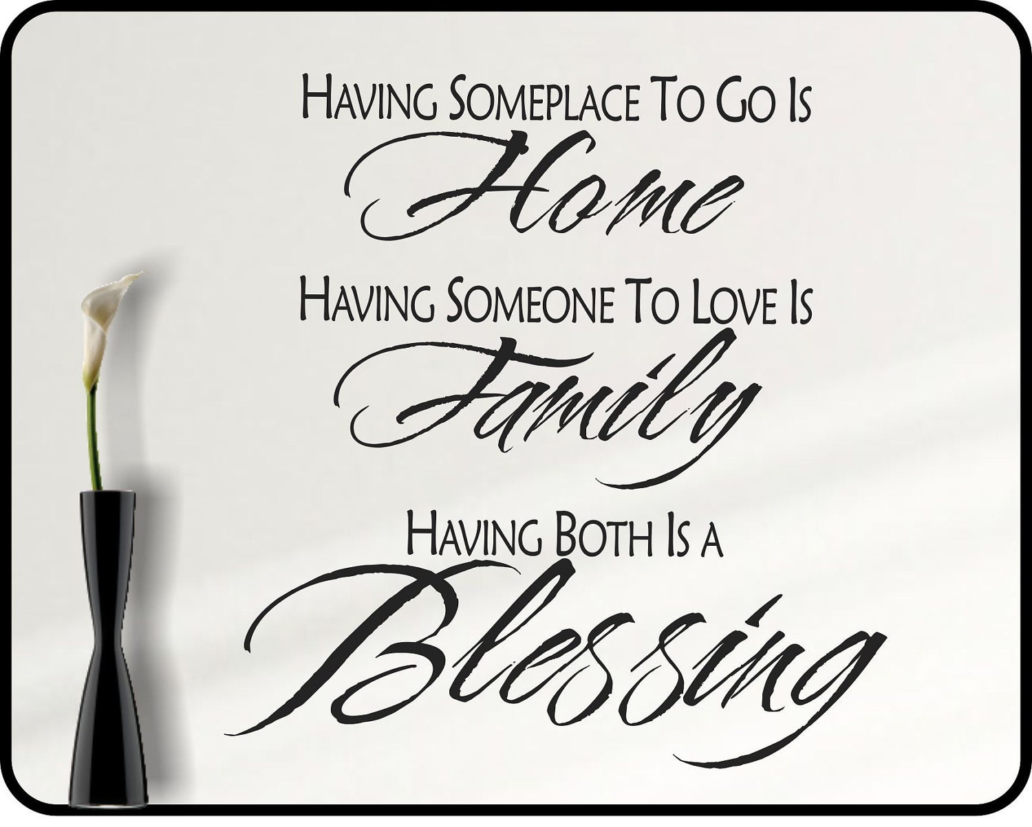 Inspirational Family Quotes Inspirational Family Wall Decal Quote Family Blessing Home