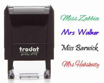 personalized name stamp signature stamp custom name stamp custom teacher name stamp teacher gifts stamp