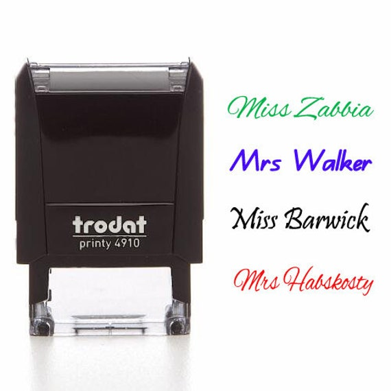 teacher signature stamp