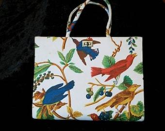 Beautiful unique Red/blue bird handbag