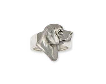 Beagle Ring Jewelry Sterling Silver Handmade Dog Ring BG19-R