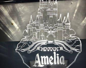 Disney's Magic Kingdom / Cinderella's Castle Inspired Night Light